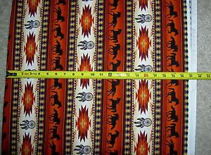 Tucson-Horse-Horses-Dreamcatcher-497-Terracotta-Elizabeth-Studio-stripe-fabric