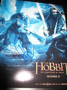 Richard Unterzeichnet Autogramm 8x10 Foto der Hobbit Desolation Von Smaug D2