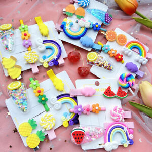 6X-Girls-Baby-Fruit-Hair-Clips-Snap-Kid-Hair-Bow-Hairpin-Barrettes-Accessories