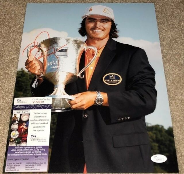 RICKIE FOWLER SIGNED 11X14 PHOTO PGA MASTERS US OPEN PGA RYDER CUP USA JSA