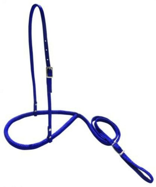 Showman ROYAL BLUE Premium Nylon Rope Nose Tie Down. NEW HORSE TACK!