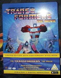Transformers The Movie Limited Edition Bluray Steelbook 30th Anniversary OOP PAL