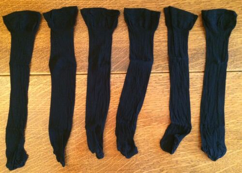 Pack of 3 Comfort Top Socks Knee High Wear Under Trousers Mink Black One Size