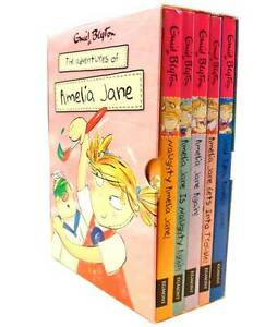 Enid-Blyton-Amelia-Jane-Collection-5-Books-Box-Set-Gift-Pack-Naughty-Amelia-Jane
