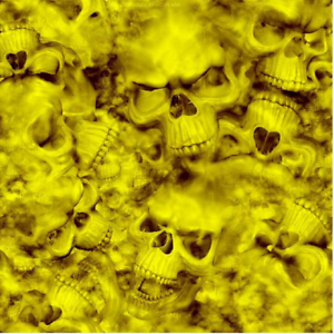 "Reaper Skulls YELLOW vinyl Wrap air release MATTE Finish 12/""x12/"""