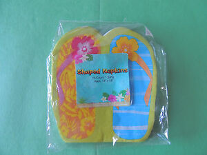 SUMMER Flip Flop Fun LUNCH NAPKINS (12) ~ Party Supplies Luncheon 13 x13 3 ply