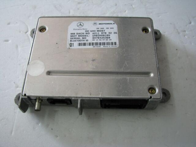Mercedes E class W211 Phone Bluetooth Motorola Control Unit A2118703226 used '06