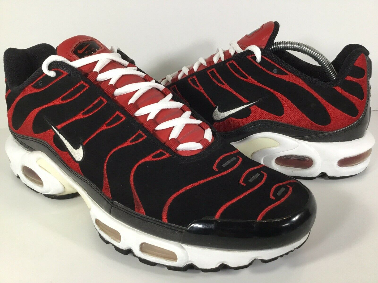Nike Air Max Plus Tn Black White Red Leather Suede 2006 Size 13 Rare 310721-011