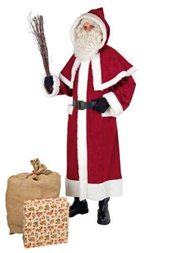 Nikolaus Kostüm XXL Weihnachtsmann-Mantel Nostalgie in Überlänge bis ca 2 Met...