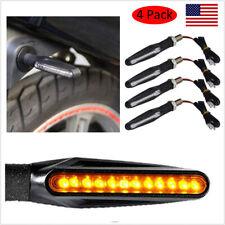 4x Universal Motorcycle 12 Led Amber Turn Bike Signal Indicators Blinker Lights