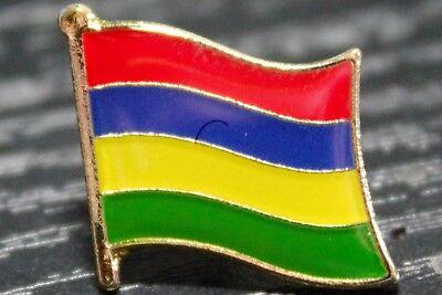 Mauritius Flag Lapel Hat Cap Tie Pin Badge Maurice Republik Moris Gift Brooch