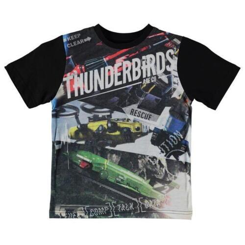 Thunderbirds Black Boys T-Shirt 2-3 years BNWT