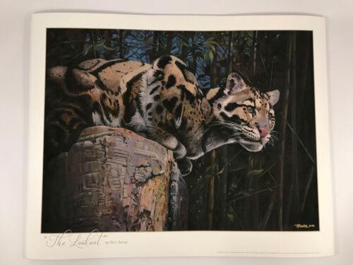 "Rich Tesner /""The Lookout/"" Fine Art Giclée Print Clouded Leopard at Nashville Zoo"