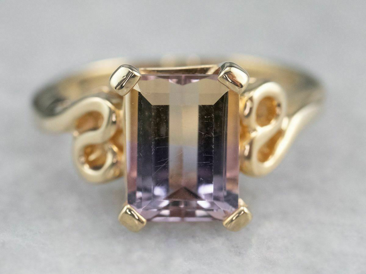 Ametrine Gold Solitaire Ring - image 2