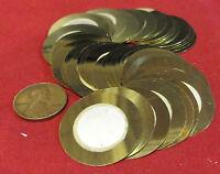 50 X 27mm Brass Piezo Disc Transducer - Cbg Acoustic Pickup, Drum Trigger Sensor