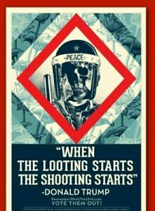 "Shepard Fairey ""When The Looting Starts"" Litho Art Print Poster Obey Giant 18x24"
