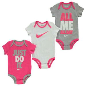 956dc9d912 NEW NIKE AIR FUTURA 3 PIECE INFANT SET BABY BODYSUIT 0-6 MONTHS PINK ...