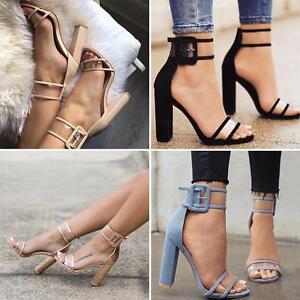 59ad4c1d3ab6 Hot Woman Summer High Heels Thick Heel Transparent Open Toe Sandals ...
