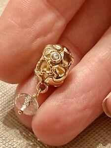 Pandora-14ct-14k-Gold-True-Love-Green-Amethyst-sapphire-Charm-750354GAM-HTF-RARE