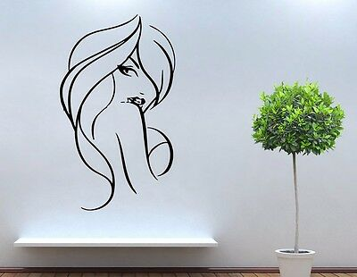 Beauty Salon Decals Girl Vinyl Sticker Wall Decor  tz2158