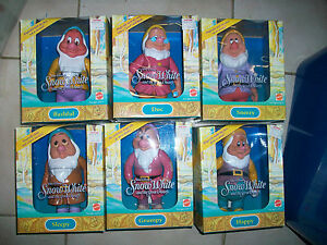 Lot 6 1992 Disney Snow White & Seven Nains Grumpy-doc-happy-sneezy-sleepyfigure