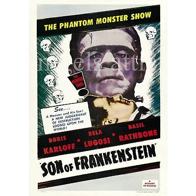 SON of  FRANKENSTEIN   A4  FILM POSTER