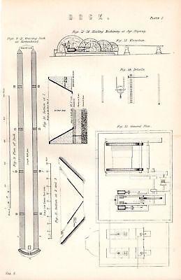 Art Enthusiastic 1880 Print Dock Graving Birkenhead Ayr Slipway Hauling