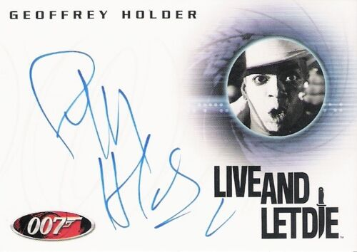 BOND HEROES /& VILLAINS GEOFFREY HOLDER AS BARON SAMEDI AUTOGRAPH CARD A124