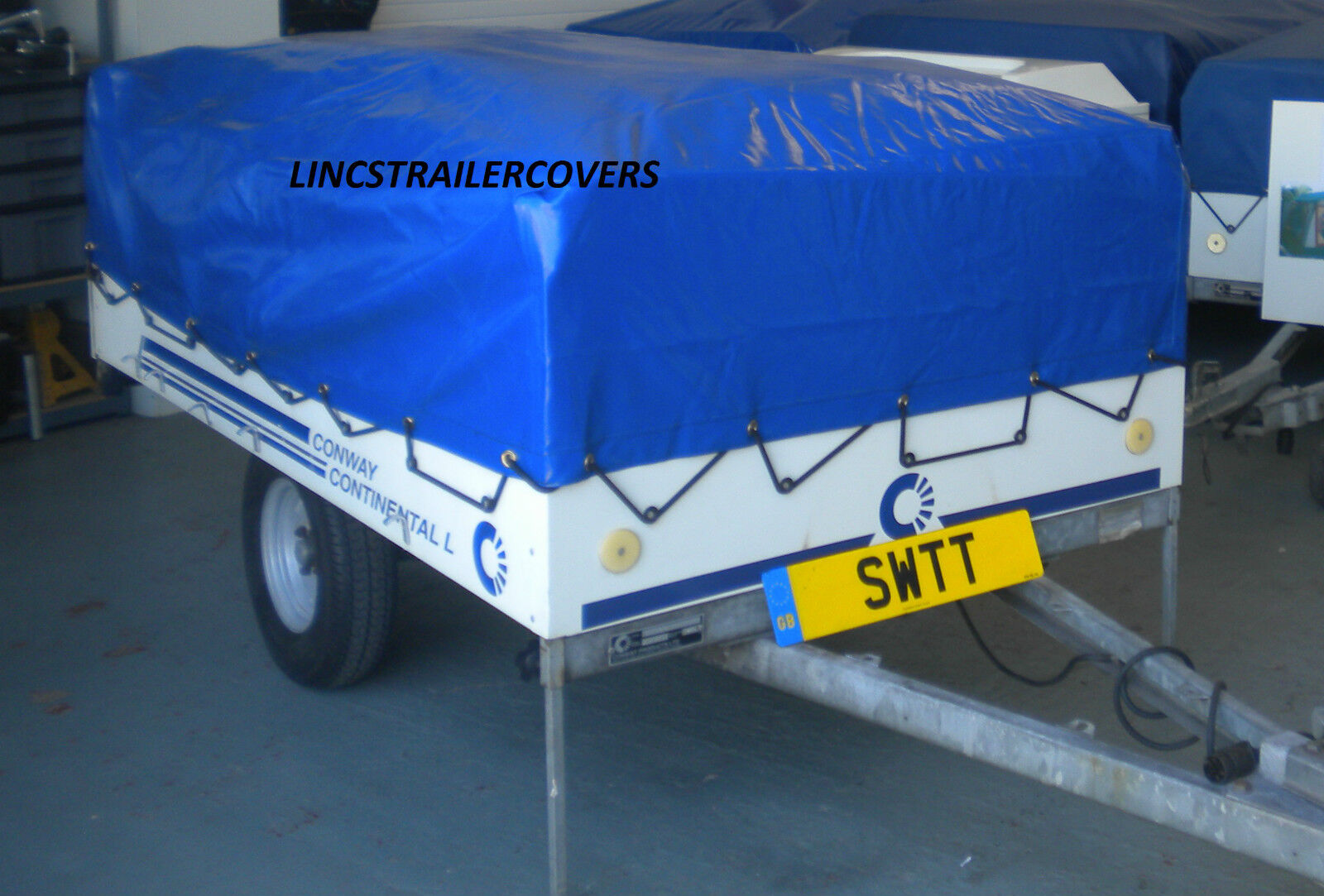 Off CONWAY WITH OUT THE KITCHEN  TRAILER TENT COVER bluee  OFF