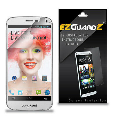 1X EZguardz LCD Screen Protector Shield HD 1X For Verykool Spark s505 (Clear)