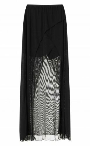 Necessary Evil Aphrodite Skirt Black Mesh Layer Long Gothic Witchy Punk Summer