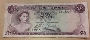 1/2 Half Bahamas Government 1965 Fifty Cents