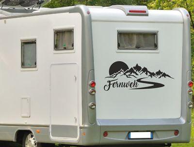 Aufkleber Wohnwagen Wohnmobil Caravan Camper Auto Berge Alpen Fernweh Zuhause 06 Ebay