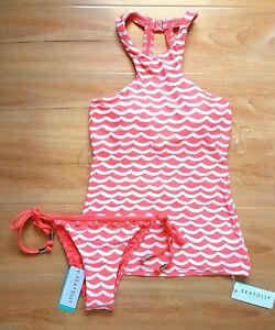 NWT-Seafolly-Tidal-Wave-High-Neck-Singlet-amp-Brazilian-Tie-Side-AU-8-US-4-M63