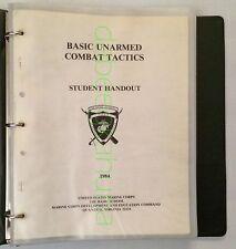 United States Marine Corps  Basic Unarmed Combat Tactics  1984 Student Handout