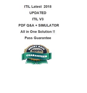 itil v3 foundation exin dump practice test pdf sim ebay