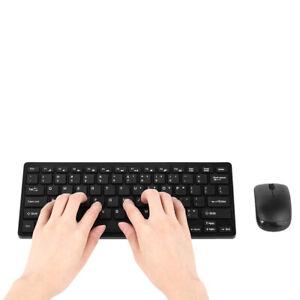 Wireless Slim Gaming Keyboard Mouse Combo Long Battery Life Slim Quiet Ergonomic
