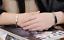 2-Bracciale-Coppia-bracelet-Uomo-Donna-ring-Fidanzati-anello-Acciaio-INCISIONI miniatura 6