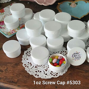 DEAL-USA-20-White-Opaque-JARS-1-ounce-White-Caps-Container-Screw-Cap-5303