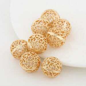 8mm-Gold-Plated-Metal-Hollow-Flower-Spacer-Beads-For-Bracelets-Necklace-Jewelry