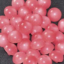 mercerie lot de 5 petits boutons boules rose 12mm button
