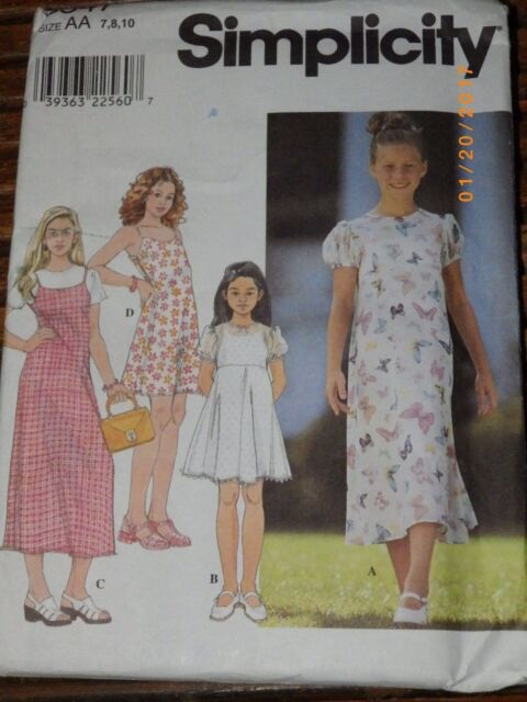 Simplicity 40 Pattern Girls Pullover Dress Sundress Slip Uncut Extraordinary Sundress Patterns Simplicity