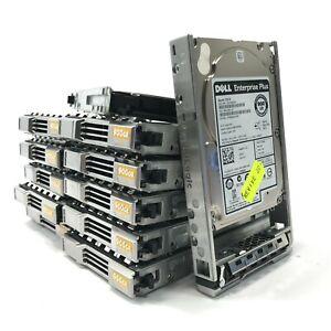 "Lot 12x 2.5"" Dell Enterprise Class ST900MM0006 900GB SAS Hard Drives W/ Caddies"