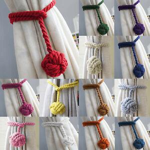 2Pcs-Pair-of-Rope-Ball-Curtain-Tie-backs-Holdbacks-Curtains-amp-Voiles