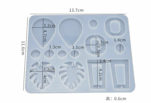 Pendant Jewelry Silicone Turtle Leaf EarringEpoxy Mold Resin Casting Mould Tool