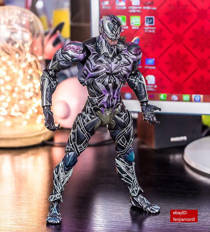 Play Arts Kai Marvel Universe Venom Action Figure Limited color Version NIB 0998