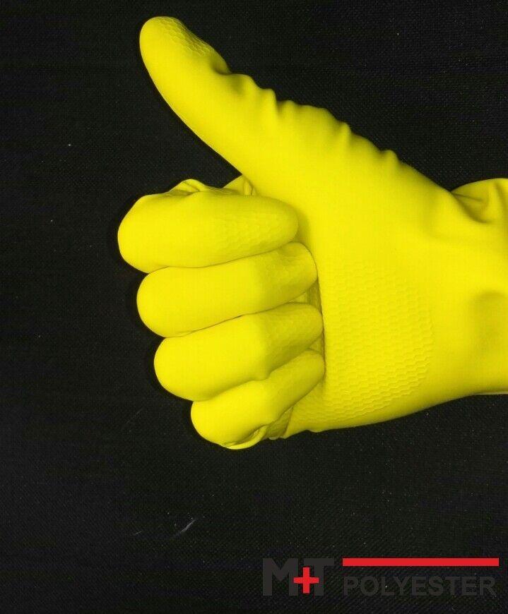 10 Paar Universal Handschuhe aus Latex Gummihandschuhe Reinigungshandschuhe gelb Gr/ö/ße S
