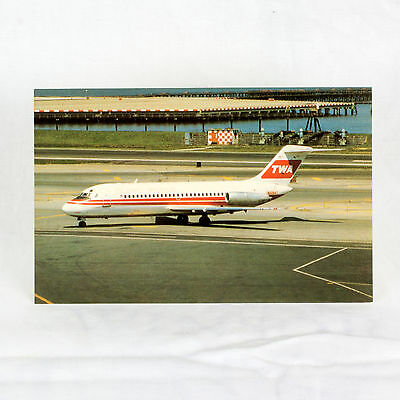 Twa - Dc-9-15 - Aircraft Postcard - Top Quality To Have Both The Quality Of Tenacity And Hardness