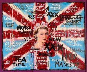 Véro Cristalli So British ! Toile Urban Art Street Art Pop Art