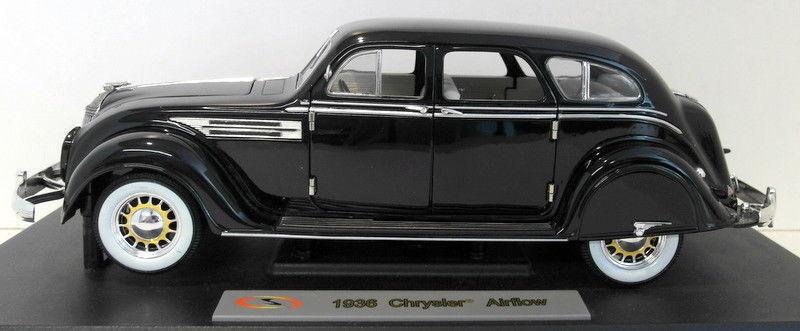 Firma 1 18 Scala Diecast - 18126 Chrysler Airlow 1936 nero